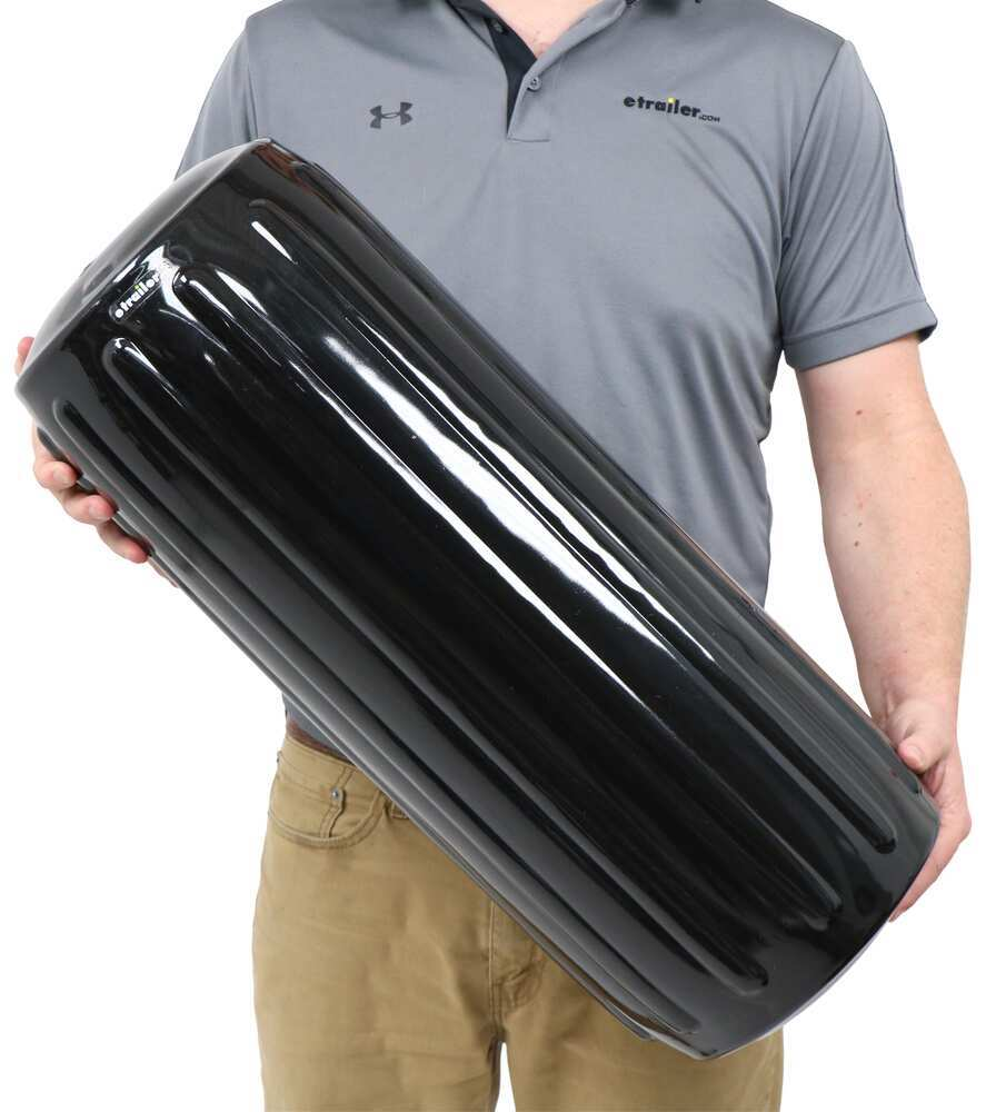 Taylor Made Big B Inflatable Center Tube Boat Fender for 35' to 50' Long Boats - Black Vinyl 6 - 10 Inch Wide 36971032