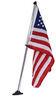 "Taylor Made USA Boat Flag Kit for Pontoon Boats - 16"" Tall x 24"" Long Flag - 30"" Pole Flag Poles 369922"
