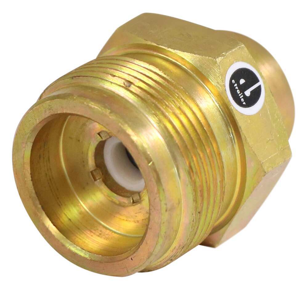"""Propane Adapter Fitting - Disposable Cylinder Port x 1/4"""" Female NPT 1/4 Inch - Female NPT 37207-30145"""