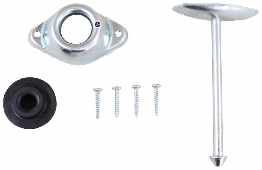 """Plunger and Socket Door Holder for RV or Enclosed Trailer - 4-3/4"""" Plunger - Zinc Plated Steel 2-1/8 Inch Hole Spacing,2-3/4 Inch Hole Spacing 37"""
