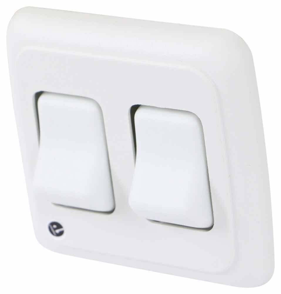 Double Rocker Switch - On/Off - White Switches 37212015