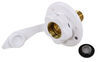 """RV City Water Inlet w/ Brass Check Valve - 1/2"""" MPT - Plastic Flange - Surface Mount - White 1/2 In MPT 372160-85-A-26A"""