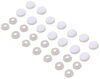 Screw Covers - White - 14 Pack White 37220375