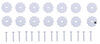 RV Rosettes - White - Qty 14 White 37220455