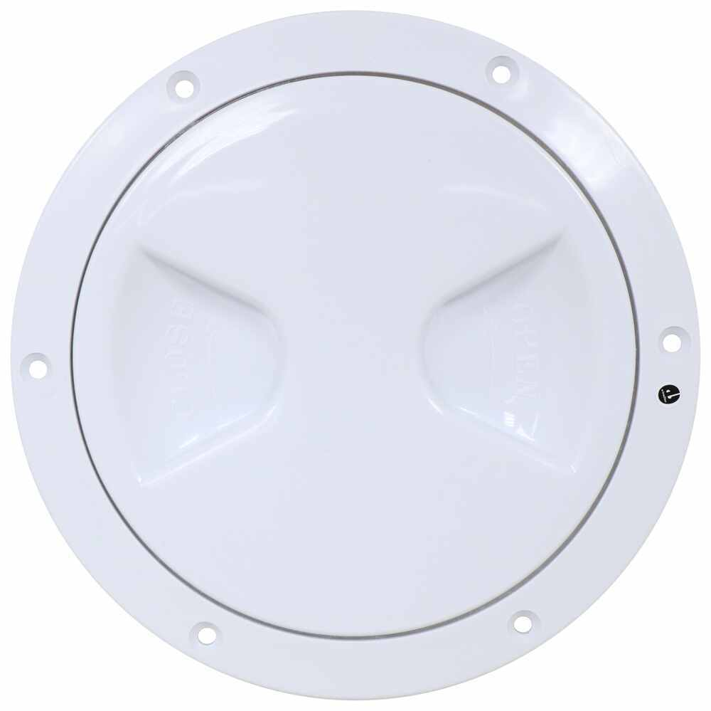 "Replacement Access Hatch for RVs - 5"" - White Round 37231025"