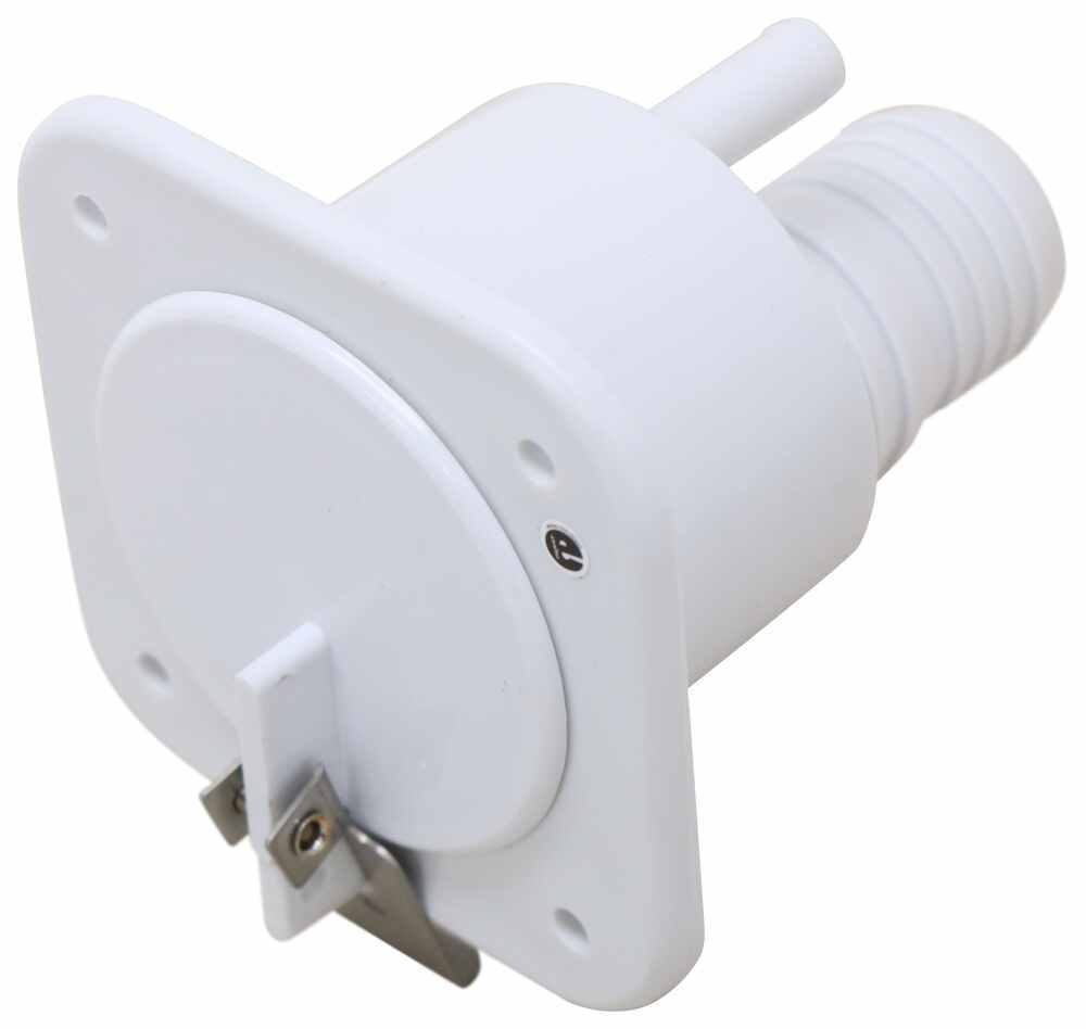 Slide-Out RV Gravity Fill Inlet with Lockable Latch - Polar White Recessed Mount 37237525