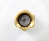 """RV City Water Inlet w/ Brass Check Valve - 1/2"""" FPT - Metal Flange - Recessed Mount - White Brass 37262115"""