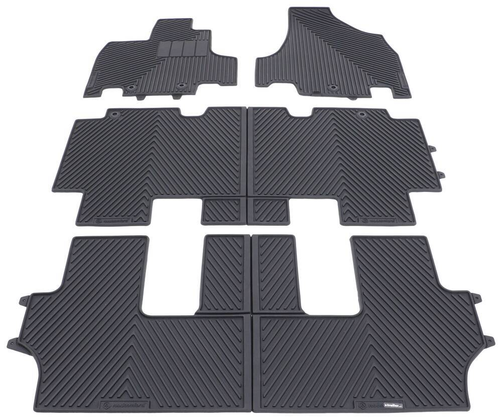 Road Comforts Custom Auto Floor Mats - Front, Middle, and Rear - Black Front,Second Row,Rear 3743447A