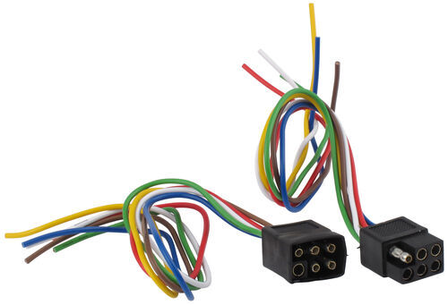 6-Pole Square Trailer Wiring Connector Kit (Car and Trailer Ends) Hopkins  Wiring 37995