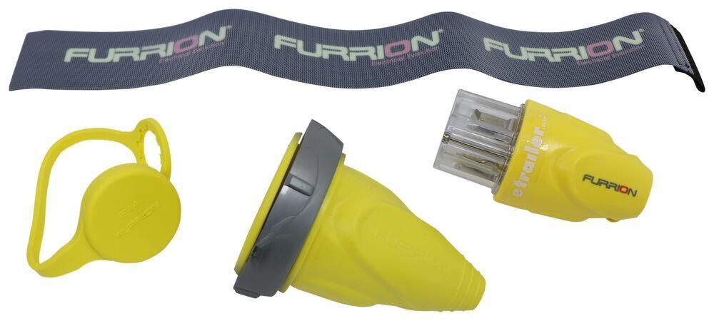 Furrion Replacement Twist Lock 30-amp RV Plug - Female - Yellow Retro Fit Kit 382396