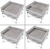 Portable Fire Pit with Full Coverage Grill Grate and Heat Shield Campfire Grill,Portable Fire Pit,Portable Grill 389CB001-QUAD