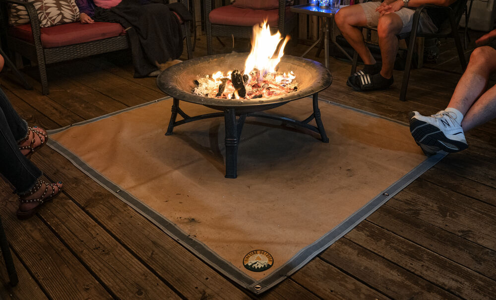 Patio Flame Retardant Ember Mat Blanket Fire Pit Mat Lawn Or Campsite S M L Protect Your Deck Fire Retardant Resistant Pad For Outdoors Picnic Barbecue Camping Under Grill Mat Barbecue Outdoor Dining Ecog