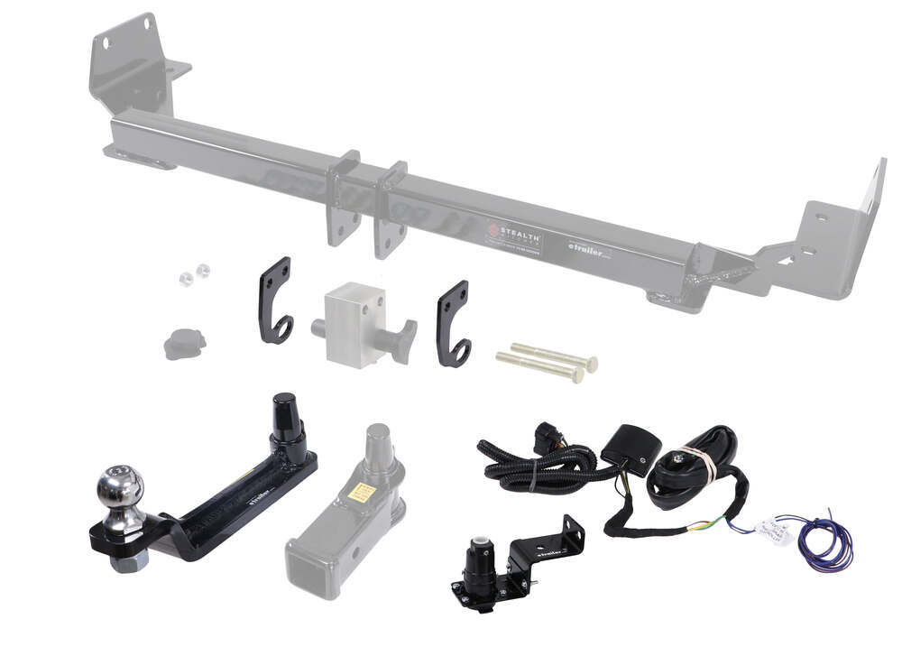 """Towing Kit w/ Ball Mount and Trailer Wiring for Stealth Hitches Hidden Rack Receiver - 2"""" Ball Ball Mount for Stealth Hitch 391CONVPT5L"""