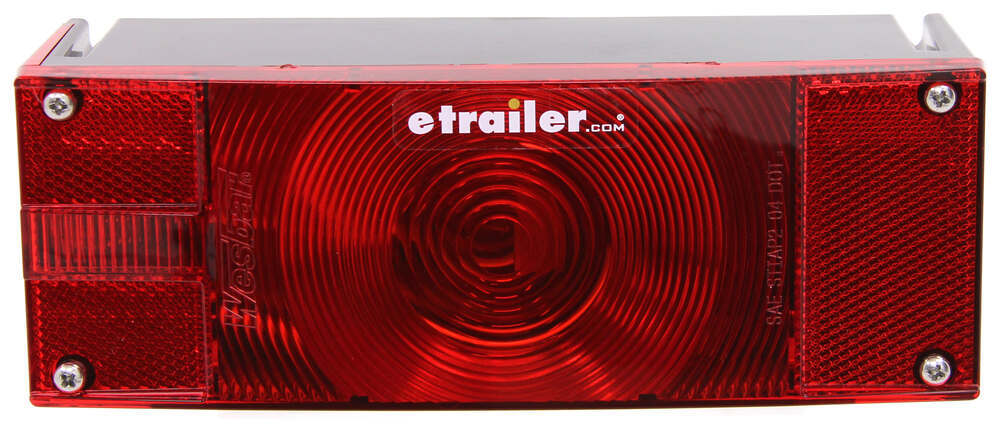 Wesbar Low Profile Trailer Tail Light - Submersible - 8 Function - Incandescent - Driver Side Stop/Turn/Tail,Side Marker,Rear Clearance,Side Reflector