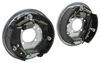 "Demco Hydraulic Brake Kit - Free Backing - Galvanized - 10"" - Left/Right Hand Assemblies - 3.5K 3500 lbs Axle 40716-15"