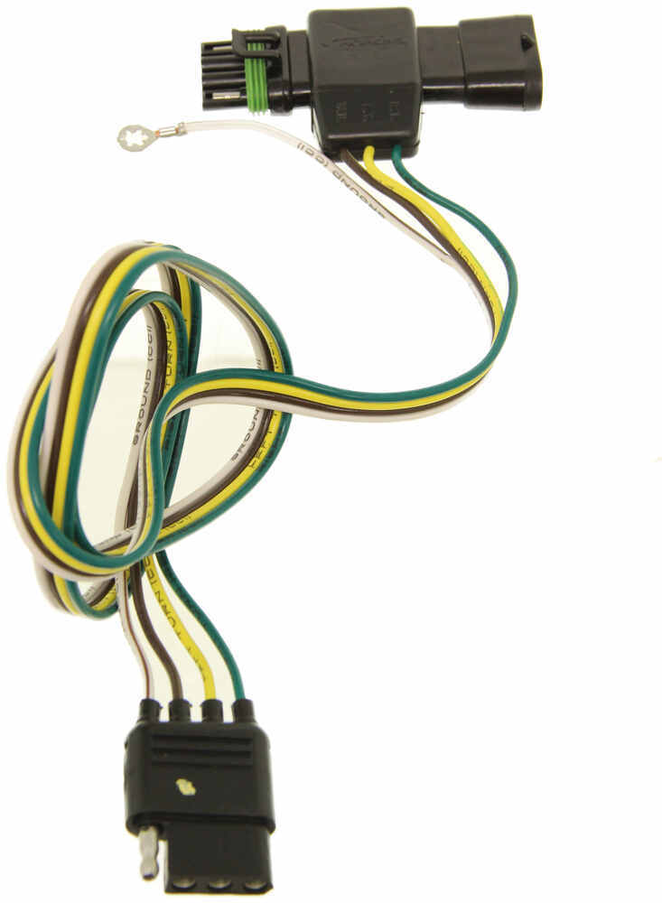 Hopkins Plug-In Simple Vehicle Wiring Harness with 4-Pole Flat Trailer Connector Custom Fit 41125