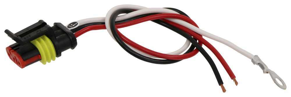3-Wire Pigtail for Peterson Trailer Lights - Weathertight Plug Wiring 417-49