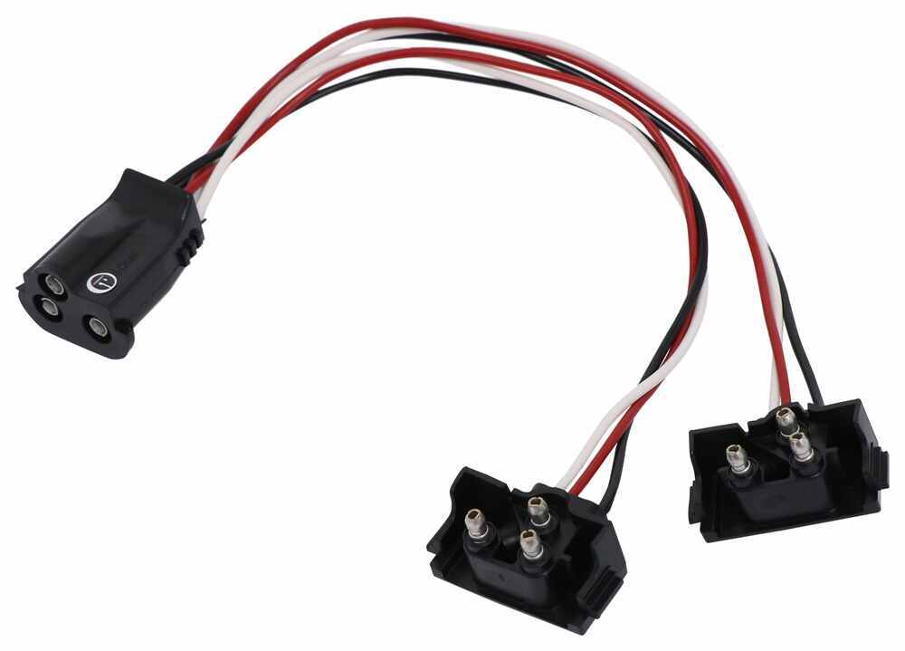 """3-Wire Y-Adapter for Peterson Trailer Tail Lights - 3-Prong PL-3 Plug - 12"""" Long 12 Inch Long 421-491Y"""