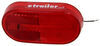 Peterson Clearance or Side Marker Trailer Light w/ Reflector - Incandescent - Oblong - Red Lens Red 423000