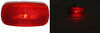 Peterson Clearance or Side Marker Trailer Light w/ Reflector - Incandescent - Oblong - Red Lens Rear Clearance 423000