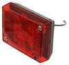 Peterson Clearance and Side Marker Trailer Light w/ Reflector - Incandescent - Rectangle - Red Lens Rear Clearance 423400