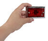 Peterson Clearance or Side Marker Trailer Light - Incandescent - Chrome Plated - Red Lens Red 425000
