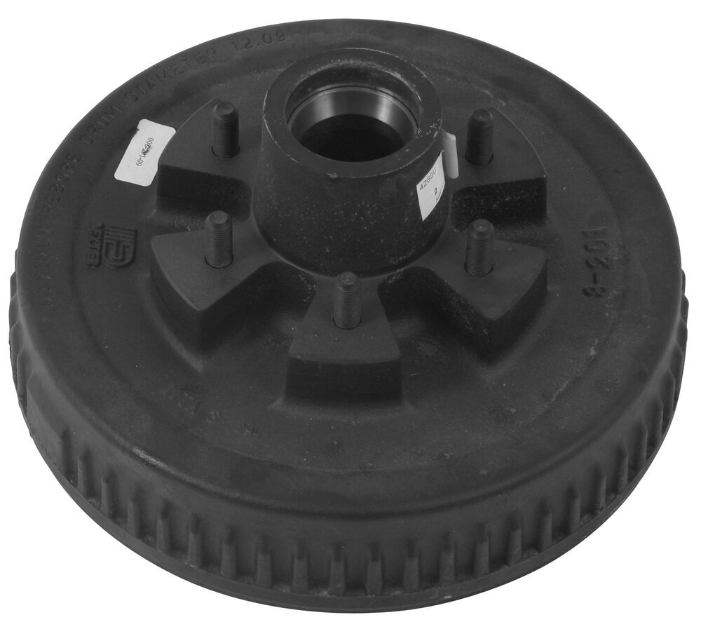 """Dexter Trailer Hub and Drum for 5,200-lb and 6,000-lb Axles - 12"""" Diameter - 6 on 5-1/2 14-1/2 Inch Wheel,15 Inch Wheel,16 Inch Wheel,16-1/2 Inch"""