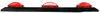 Peterson Identification Light Bar - Submersible - Incandescent - Black Plastic Base - Red Lens Incandescent Light 428100