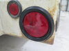 Peterson Trailer Tail Light w/ Grommet and Plug - Stop, Turn, Tail - Incandescent - Round - Red Lens Submersible Lights 435800