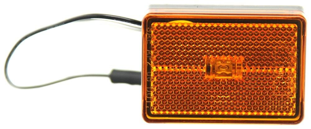 Wesbar LED Trailer Clearance or Side Marker Light w/ Reflector - 1 Diode - Black Base - Amber Lens 2-1/2L x 2W Inch 47-222012