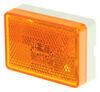 Wesbar LED Clearance or Side Marker Light w/ Reflex Reflector - 1 Diode - White Base - Amber Lens LED Light 47-222015