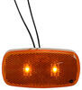 Bargman LED Clearance or Side Marker Light w/ Reflector - Submersible - 2 Diodes - Amber Lens 4L x 2W Inch 47-59-002