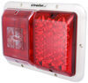 LED Double Trailer Tail Light - 4 Function - 18 Diodes - Colonial White Base - Red and Clear Lens Recessed Mount 47-84-001