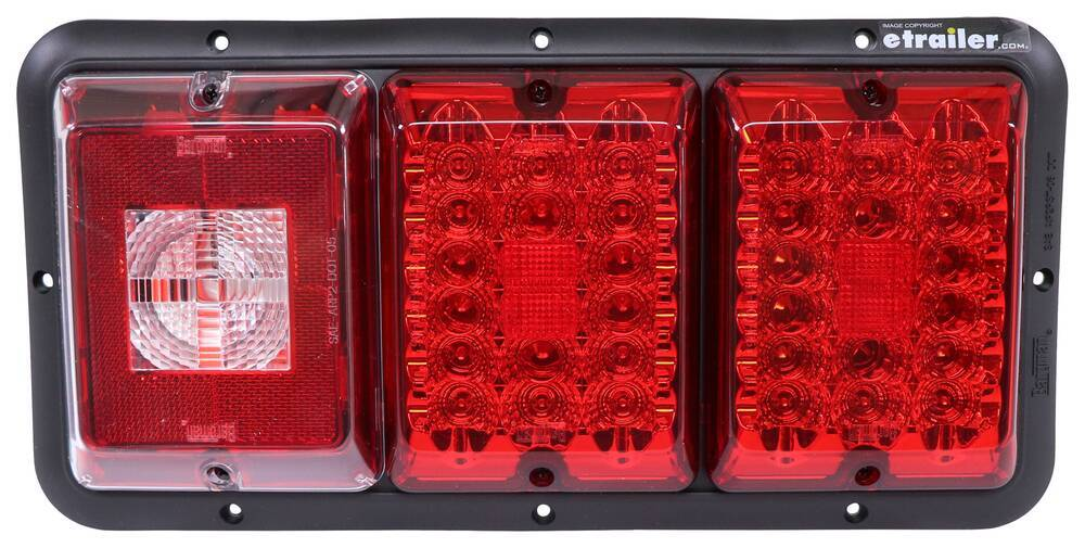 47-84-009 - Red and White Bargman Tail Lights