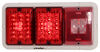 Bargman LED Triple Tail Light - 5 Function - 36 Diodes - White Base - Red and Clear Lens Rectangle 47-84-530