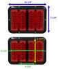 Bargman LED Double Tail Light - 4 Function - 36 Diodes - Rectangle - Black Base - Red Lens Red 47-84-610