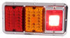 LED Triple Trailer Tail Light - 4 Function - 36 Diodes - Chrome Base - Red, Amber, and Clear Lens Stop/Turn/Tail/Backup,Rear Reflector 47-85-004
