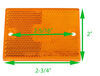 Replacement Amber Lens for Peterson Rectangular Side Marker Light w/ Reflector - Old Style Rectangle 55-15A