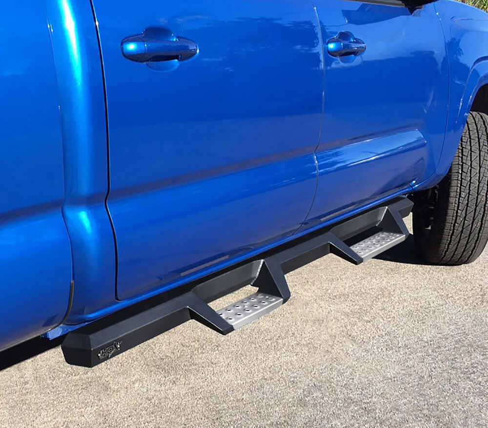 "Westin HDX Nerf Bars with Drop Steps - 4"" Wide - Black Powder Coated Stainless Steel Black 56-139352"