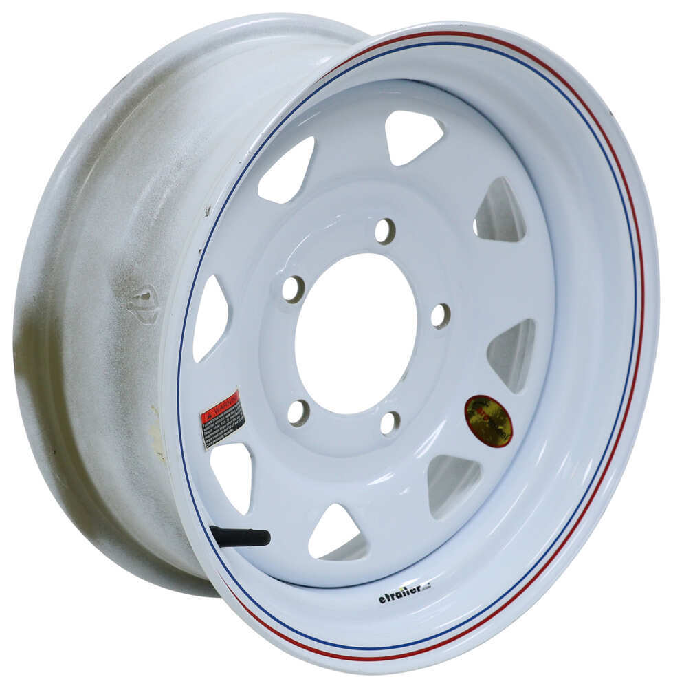 560555SWA - 5 on 5-1/2 Inch Taskmaster Trailer Tires and Wheels