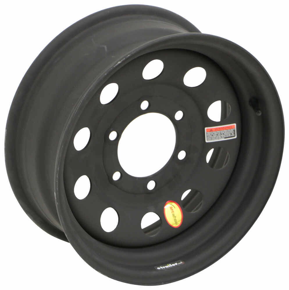 """Dark Matter Steel Modular Trailer Wheel - 15"""" x 6"""" - 6 on 5-1/2 - Matte Black ESR Finish 15 Inch 560655M1DMX"""