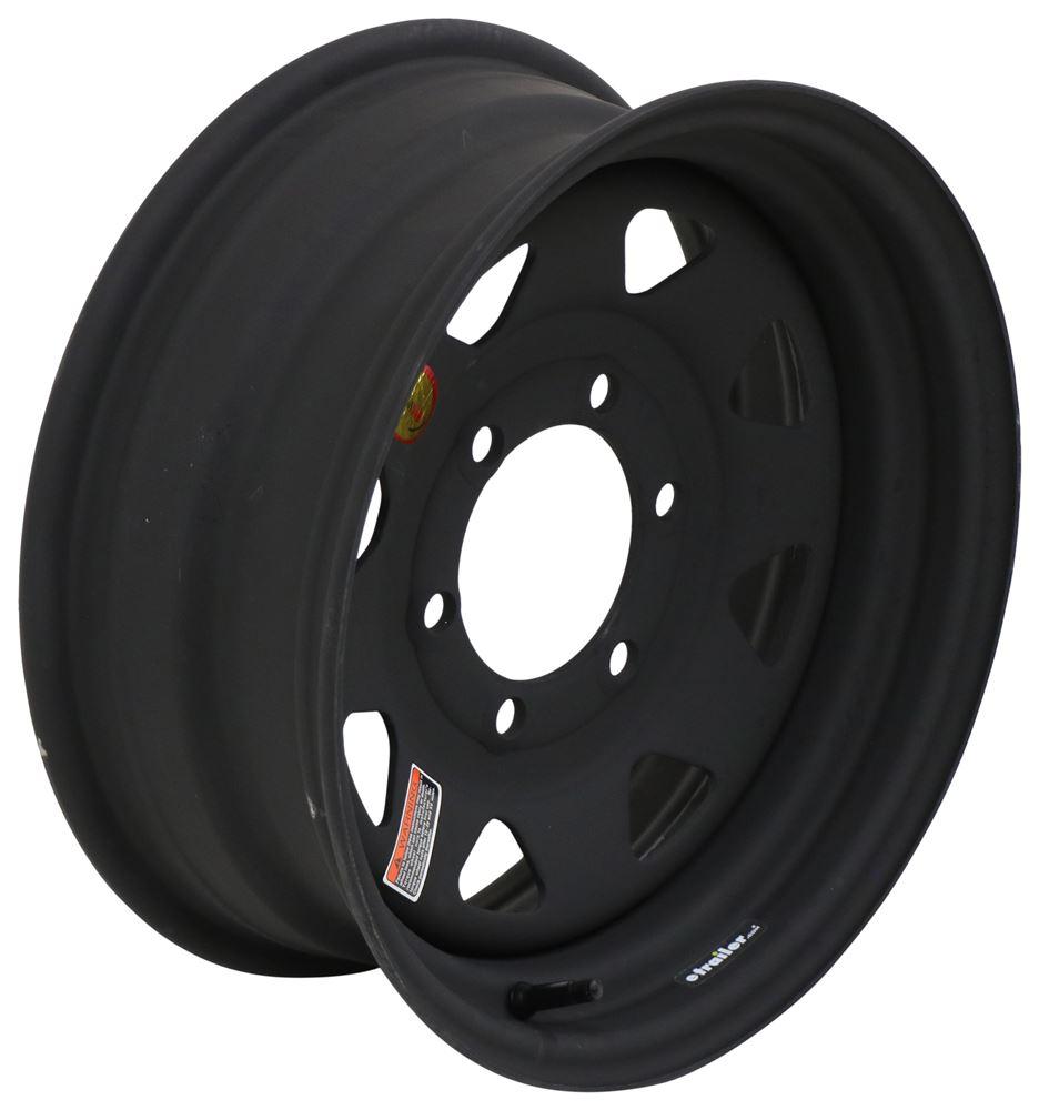 "Dark Matter Steel 8-Spoke Trailer Wheel - 15"" x 6"" - 6 on 5-1/2 - Matte Black ESR Finish 15 Inch 560655S1DMX"