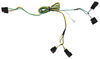 Curt T-Connector Vehicle Wiring Harness with 4-Pole Flat Trailer Connector Custom Fit 56094
