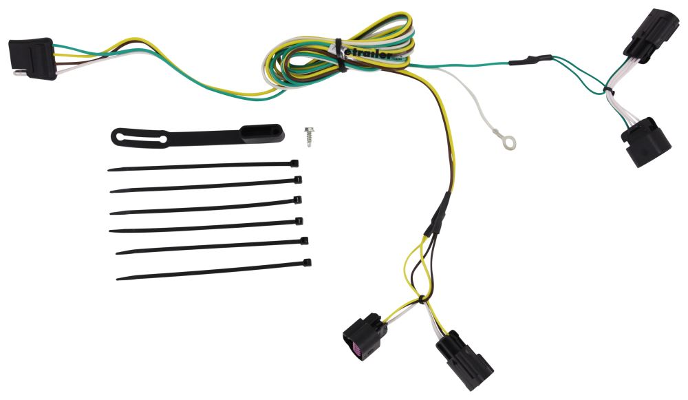 Curt 4 Flat Custom Fit Vehicle Wiring - 56094