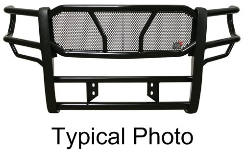 Westin HDX Grille Guard with Punch Plate - Black Powder Coated Steel Steel 57-1915