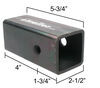 """Reese Titan Reducer Sleeve 2-1/2"""" to 2"""" Fits 2-1/2 Inch Hitch 58102"""