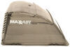 maxxair rv vents and fans roof vent cover standard trailer - 19 inch x 18-1/2 9-1/2 smoke