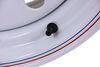 "Taskmaster Steel Modular Trailer Wheel - 16"" x 6"" Rim - 8 on 6-1/2 - White Standard Rust Resistance 660865WM3"
