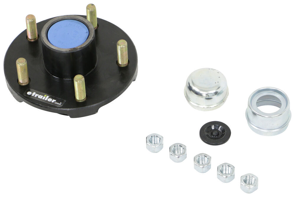 84550UC1-EZ - 5 on 5 Inch Redline Trailer Hubs and Drums
