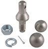 """Convert-A-Ball Interchangeable Ball Set - 1-7/8"""" and 2"""" Balls - 1"""" Shank - Nickel 1 Inch Diameter Shank 901B"""